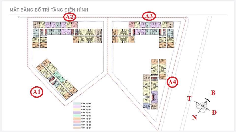 Mặt bằng tầng điển hình căn hộ Aio City Bình Tân