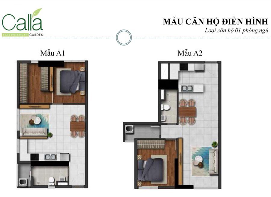 căn hộ 1 phòng ngủ dự án căn hộ Calla Garden Bình Chánh