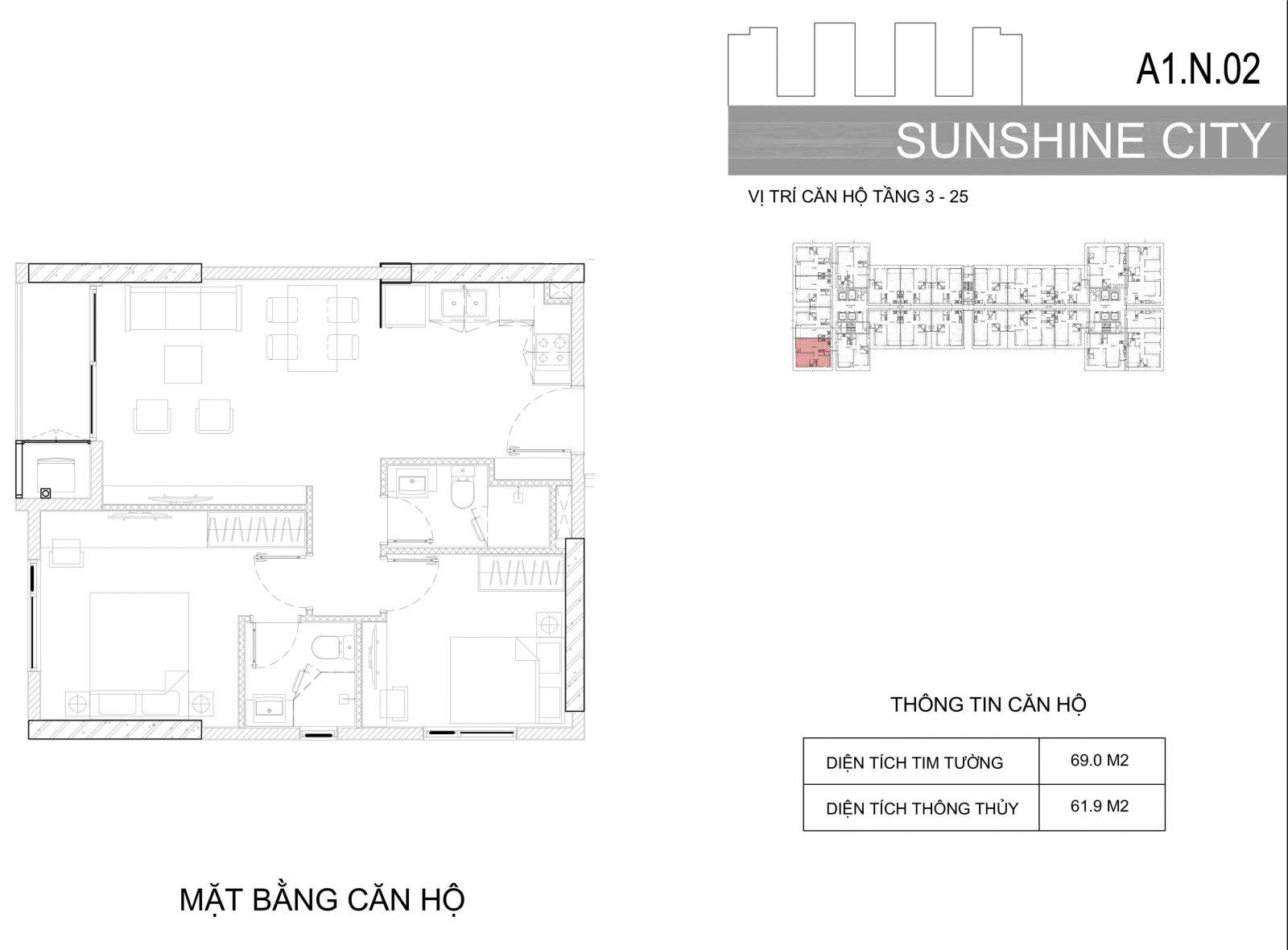Thiết kế căn hộ sunshine city quận 7