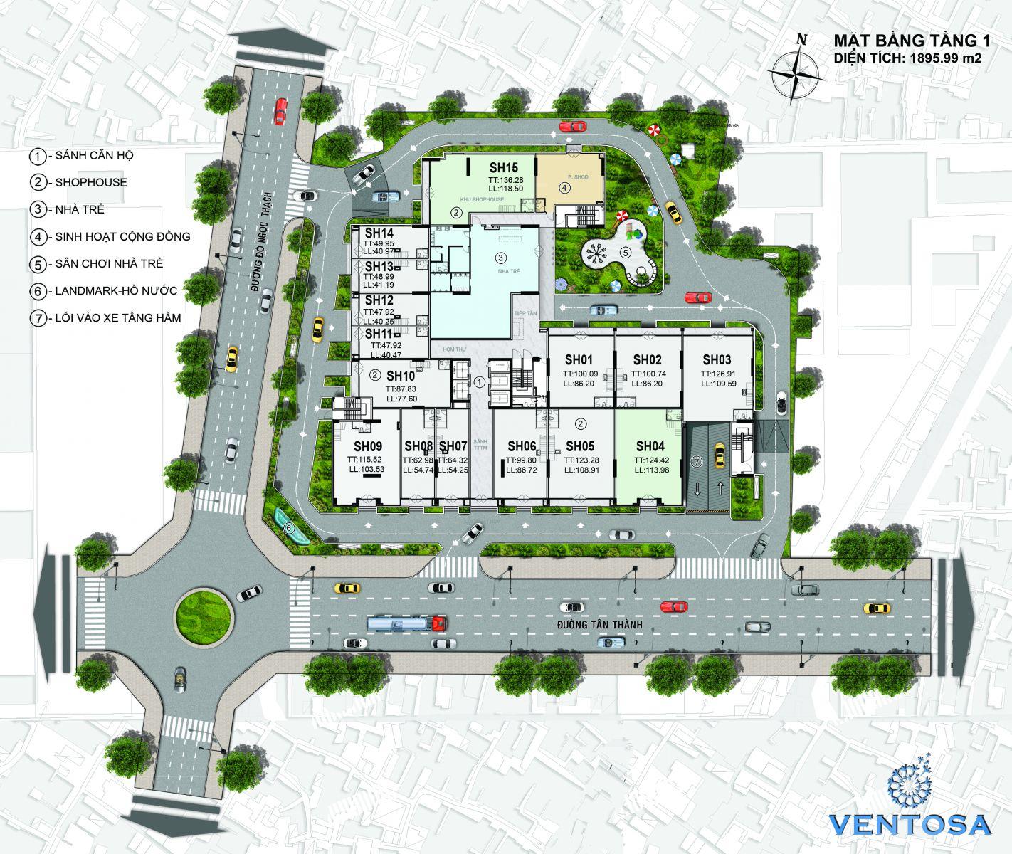 dự án căn hộ cao cấp Ventosa Tân Thành